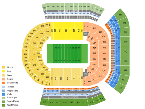 Auburn Tigers at LSU Tigers Football Venue Map