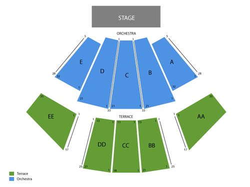 WaMu Theater Seating Chart
