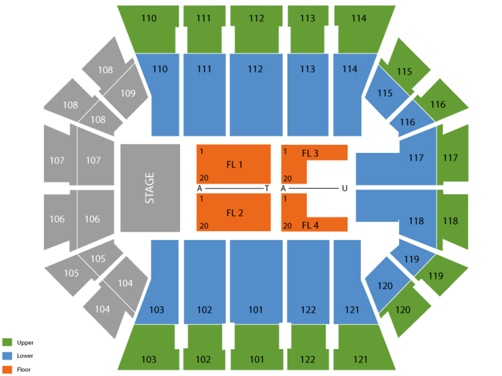 Bankunited center seating chart and tickets formerly university