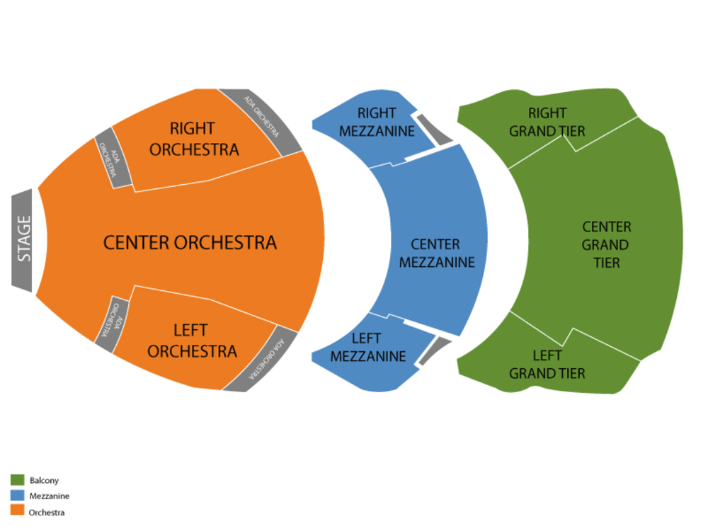 Cobb Energy Performing Arts Centre seating map and tickets