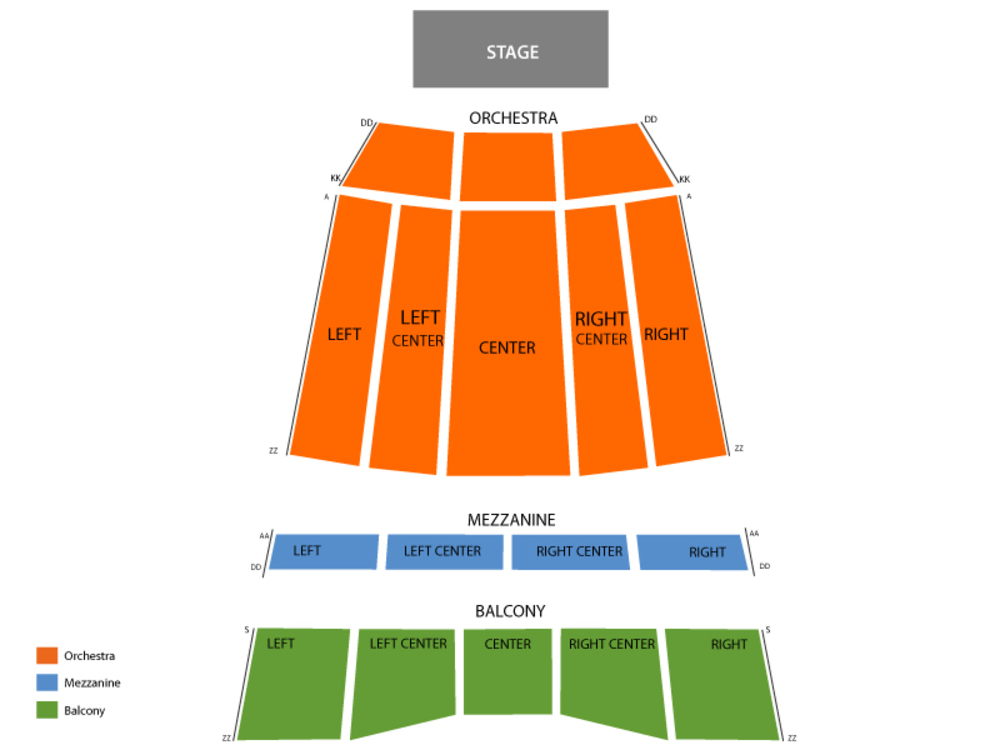 Sony Centre for the Performing Arts seating map and tickets