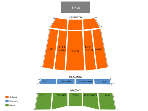 Sony Centre for the Performing Arts Seating Chart