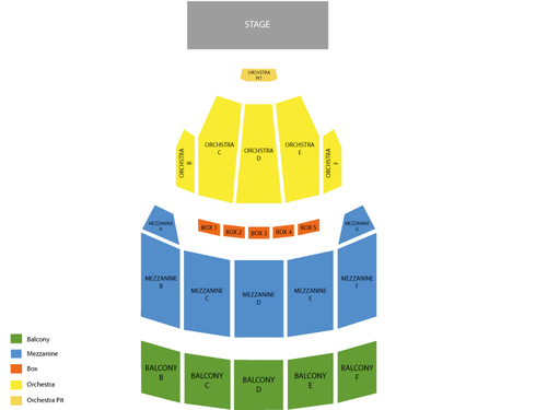 Blue Man Group (Rescheduled from 04/05/2020) Venue Map