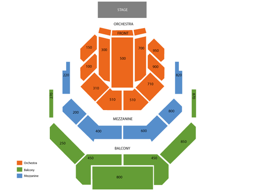 Alaska Center for the Performing Arts - Atwood Concert Hall Seating Chart