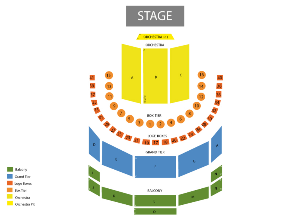 Houston Ballet: Forged in (Rescheduled from 3/14/20) Venue Map