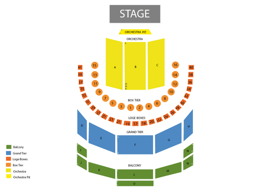 Brown Theatre - Wortham Center Seating Chart