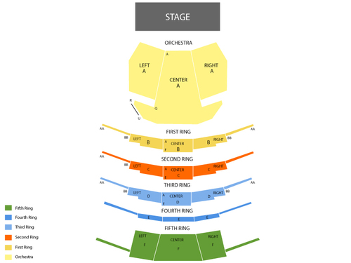 Bolshoi Ballet: The Taming of The Shrew Venue Map