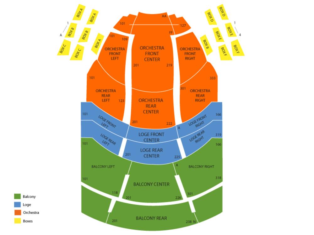 Aronoff center seating chart mersn proforum co