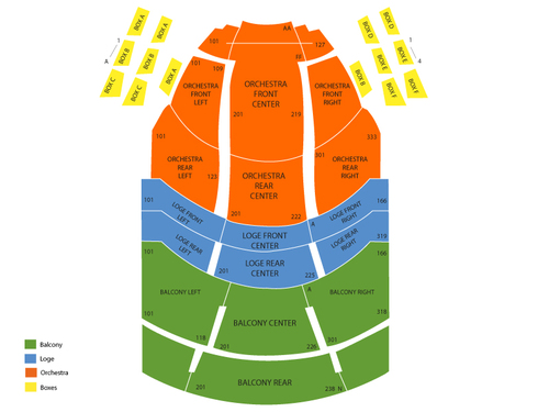 Procter and Gamble Hall - Aronoff Center Seating Chart