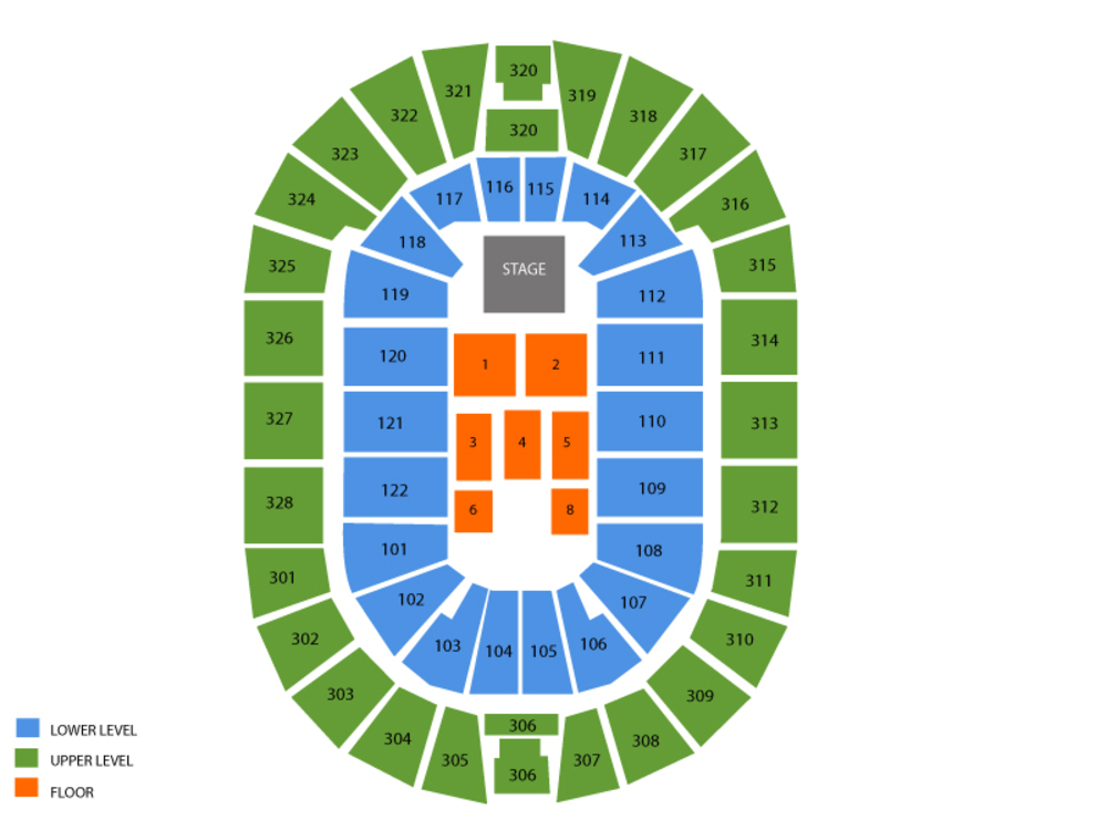BOK Center seating map and tickets