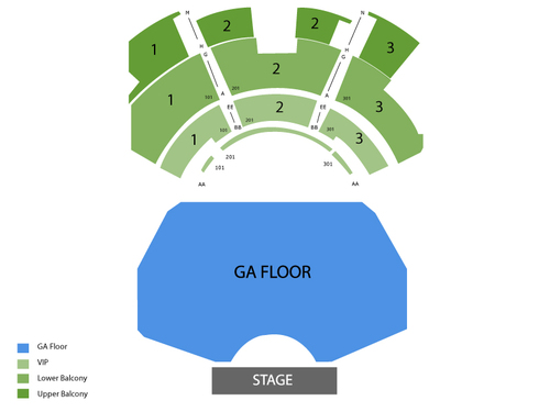 Mike Epps Venue Map