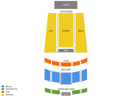 The Edwards Twins (Rescheduled from 04/29/2020) Venue Map