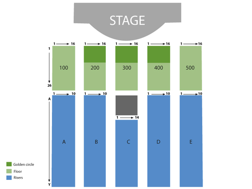 Jim Gaffigan Venue Map