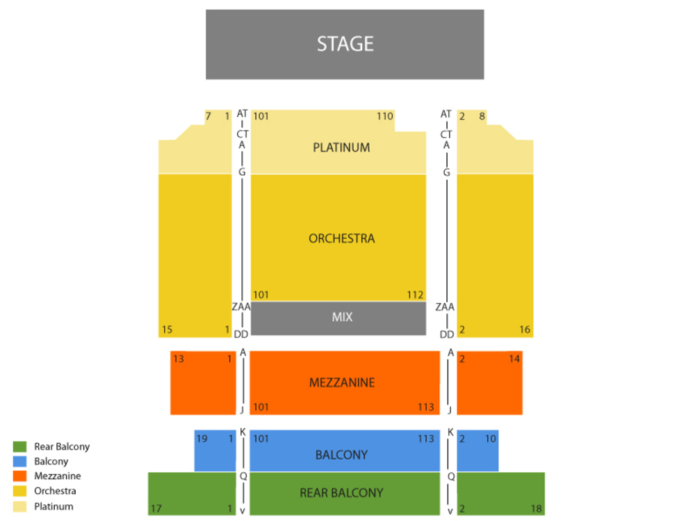Boyz II Men (Rescheduled from 5/09/2020 and 10/10/2020) Venue Map