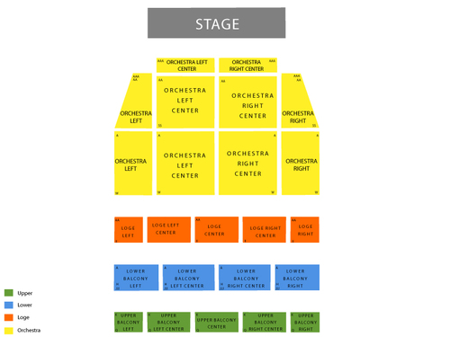 Tower Theatre - PA Seating Chart