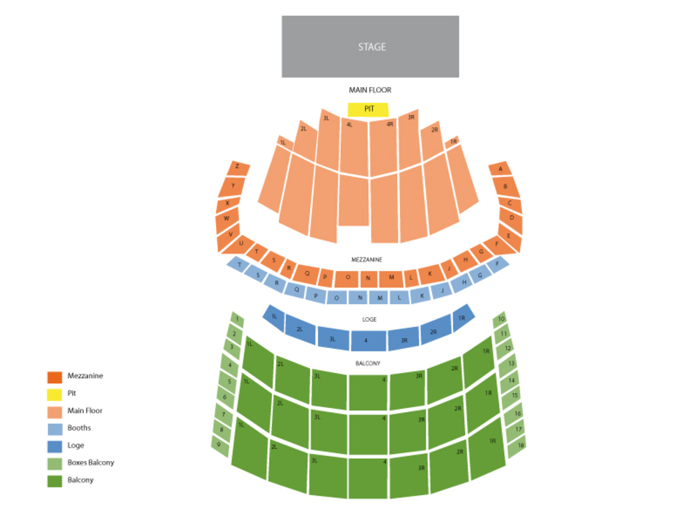 2Cellos (Rescheduled from 10/28) Venue Map