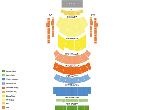 Auditorium Theatre Seating Chart