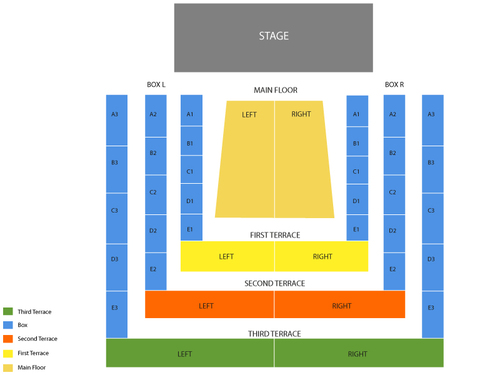 Clowes Memorial Hall Seating Chart