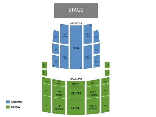 Rochester Auditorium Theatre Seating Chart