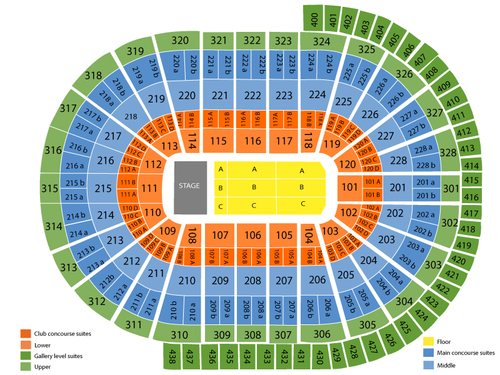 Canadian Tire Centre Seating Chart