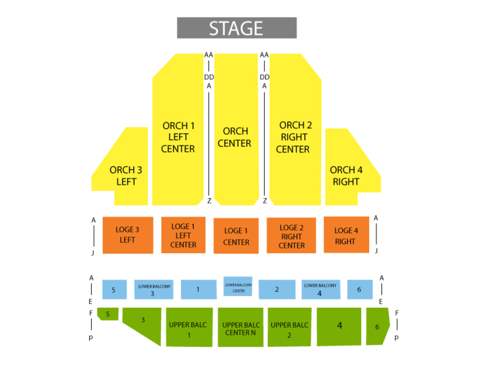 Il Divo Venue Map