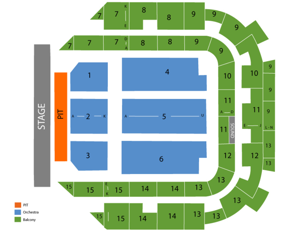 Kevin Hart Venue Map