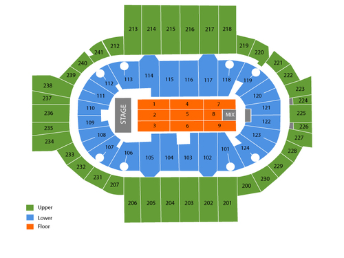 XL Center Seating Chart