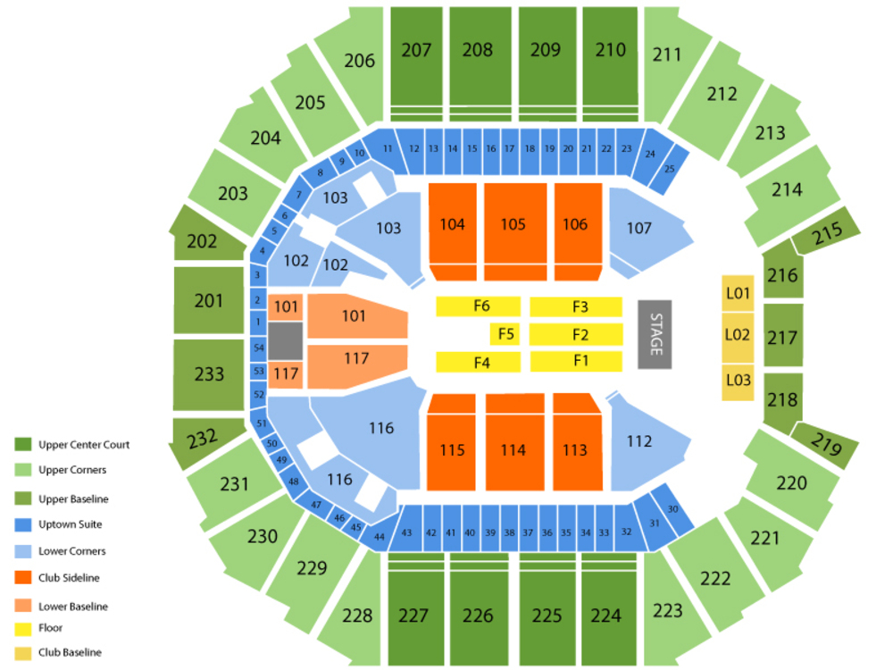 Seating Chart for End Stage Seating Chart at Time Warner Cable Arena