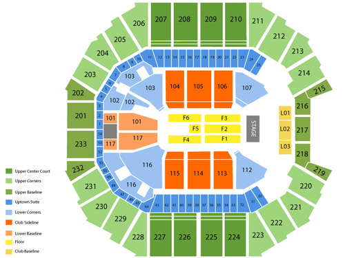 Bruno Mars with Fitz and The Tantrums Venue Map