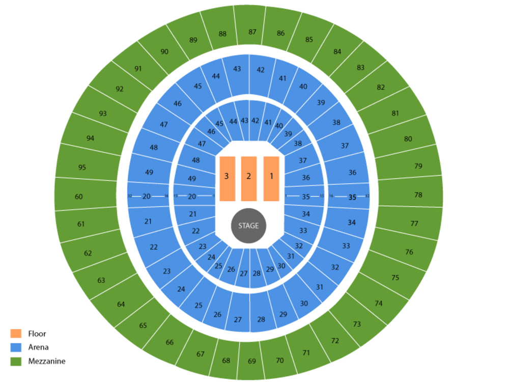 Chris Stapleton Venue Map