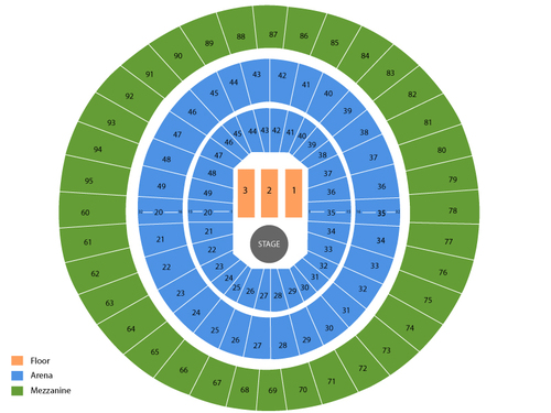 Lauren Daigle (Rescheduled from 07/17/2020) Venue Map