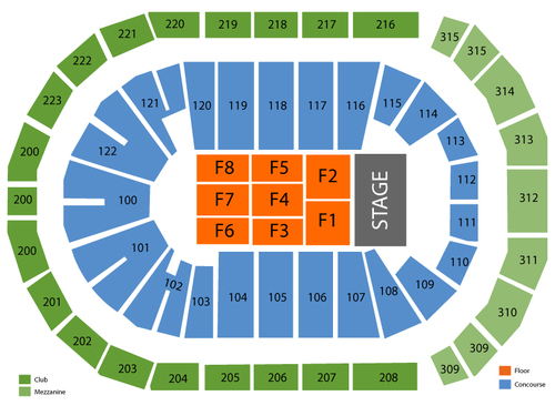 Five Finger Death Punch (Rescheduled from 4/10/20) Venue Map