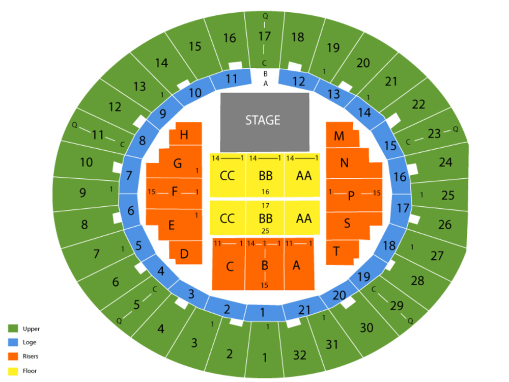 Neal S Blaisdell Arena Seating Chart And Tickets Formerly