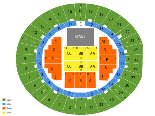 Neal s blaisdell arena seating chart events in honolulu hi