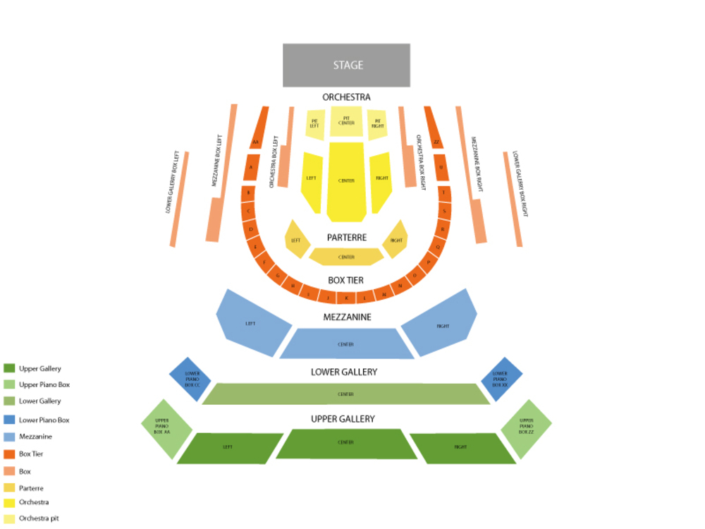 Bass Performance Hall seating map and tickets