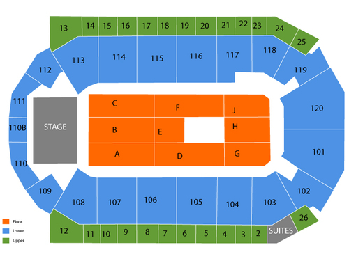 1stBank Center Seating Chart