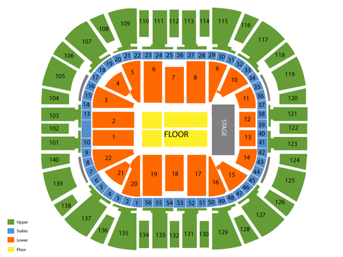 EnergySolutions Arena Seating Chart
