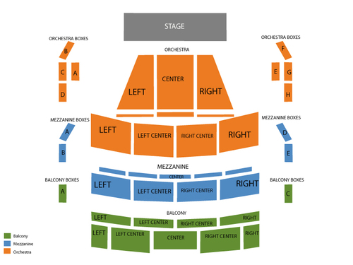 Amaturo Theater - Broward Center for the Performing Arts Seating Chart