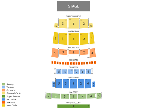 Detroit Opera House Seating Chart