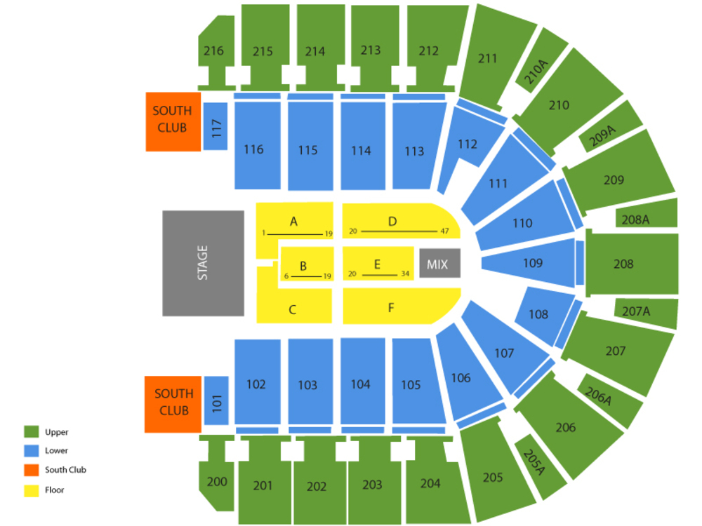 Old Dominion with Scotty McCreery Venue Map