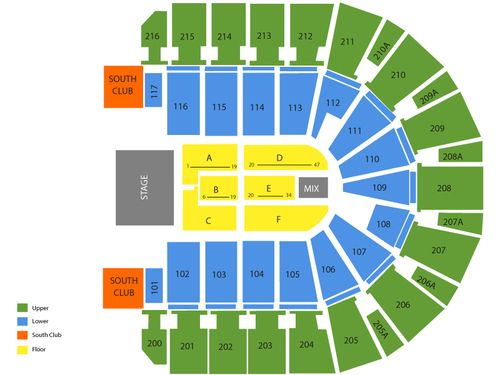 Luke Bryan with Lee Brice Venue Map