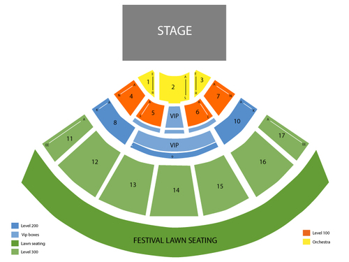 Brad Paisley with Chris Young and Lee Brice Venue Map