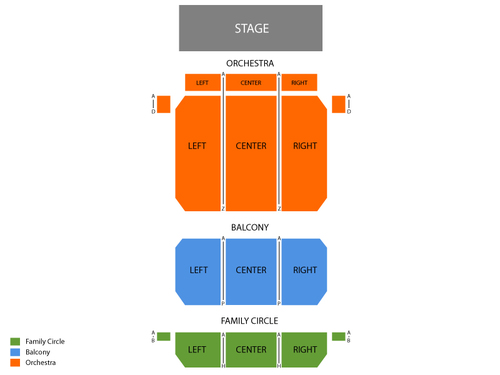 Merriam Theatre Seating Chart