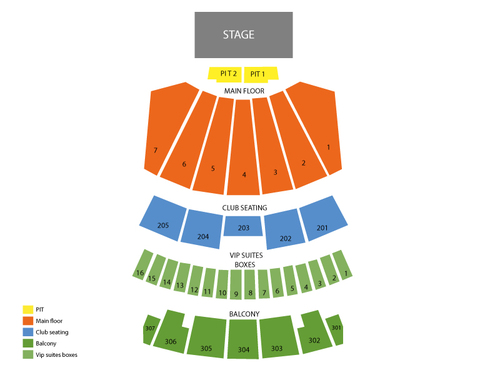 Comerica Theatre Seating Chart
