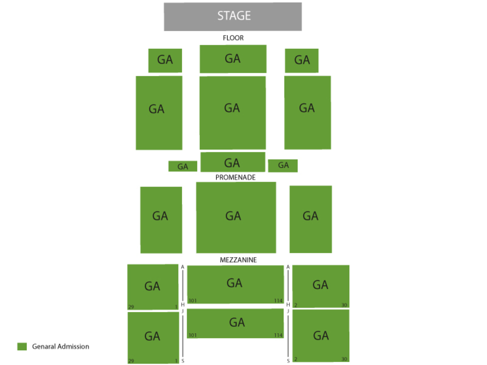 Seating Chart for Full House Seating Chart at Best Buy Theatre