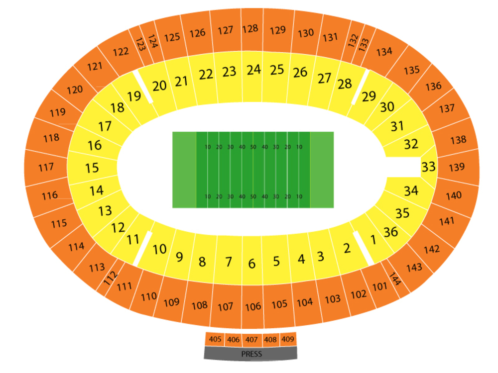 First Responder Bowl (Boston College vs Boise State) Venue Map