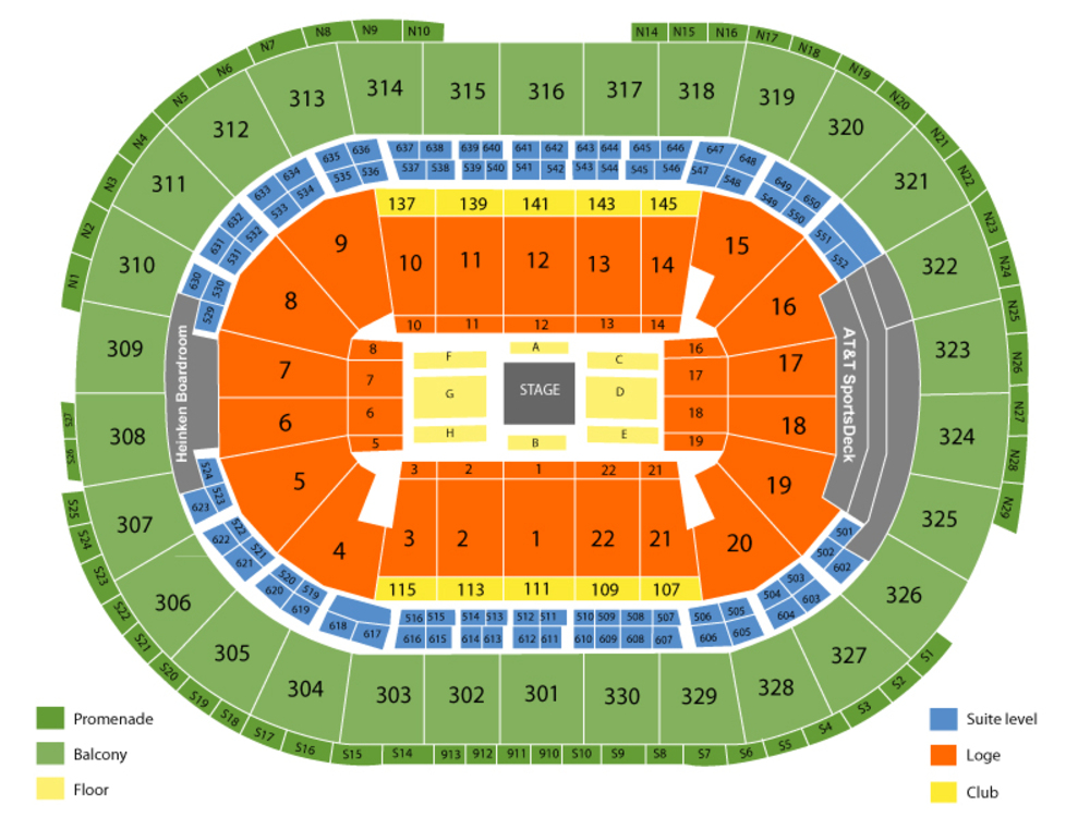 WWE Summerslam Weekend - 3 Day Combo Venue Map