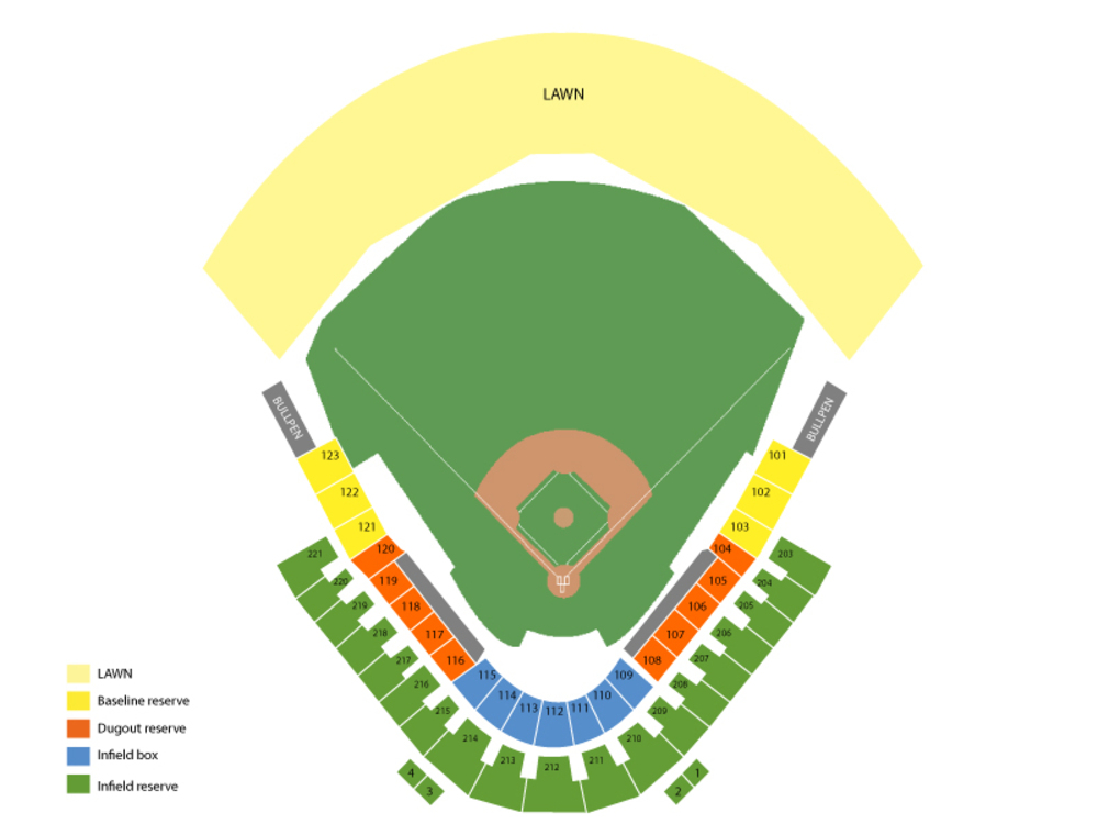 Spring Training: Cincinnati Reds at Colorado Rockies (Split Squad) Venue Map