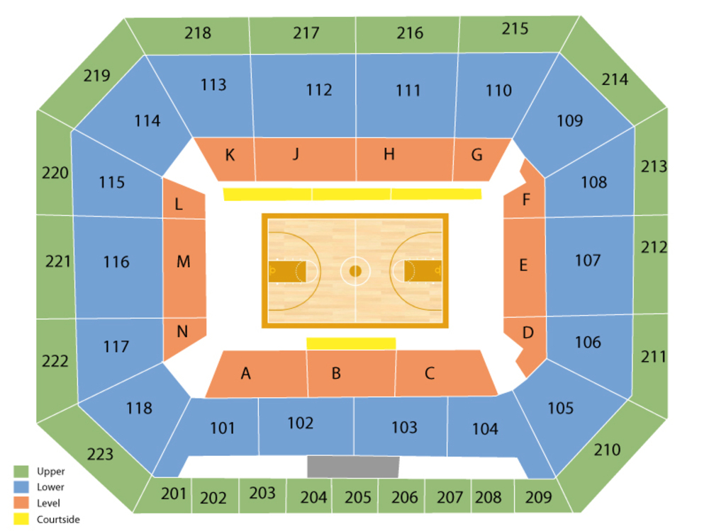 Texas A&M Aggies at Auburn Tigers Basketball Venue Map