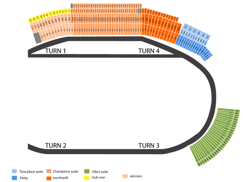 NASCAR Spint Cup Qualifying Night Venue Map